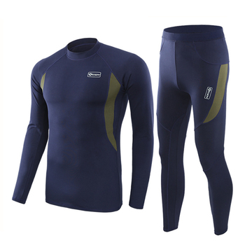 ESDY Winter Thermal Underwear Sets Quick Dry Sport Suit Running T-shirt Set Breathable Tight Long Tops & Pants Moto Jacket+Pants 10