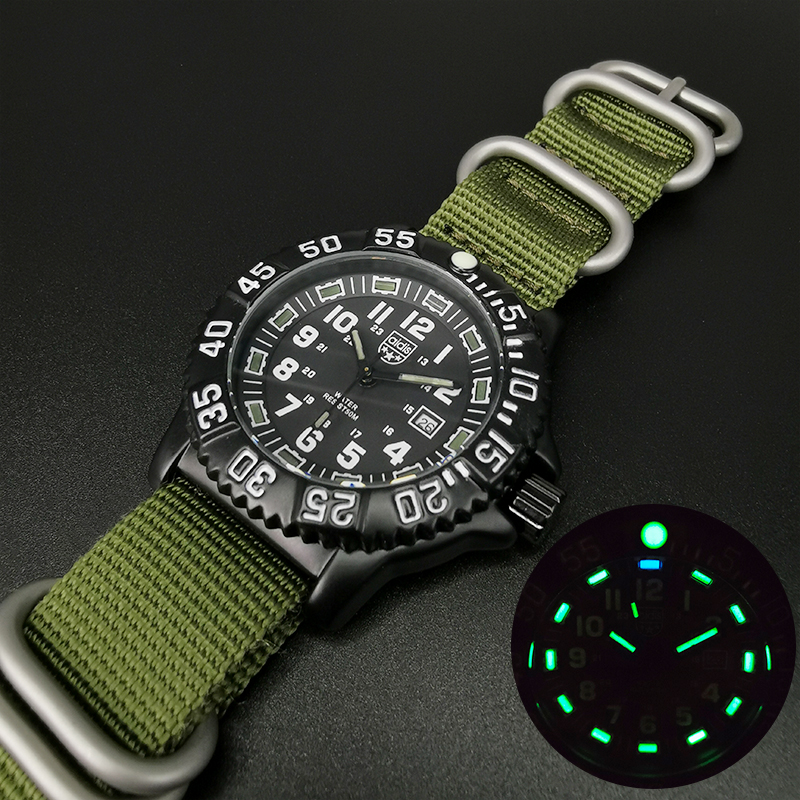 Addies Men Military Watches Leisure Outdoor Sports Luminous Watch Multi-functional NATO Nylon Waterproof Men's Quartz Watch