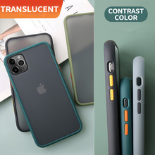 Hard PC Protective Bumper Case For iPhone 11 Case Translucent Matte Back Cover For iPhone 6 6s 7 8 Plus X XR XS MAX 11 Pro Max ultrathin protective frosted pc back case w sim card slot open for iphone 4 4s translucent black