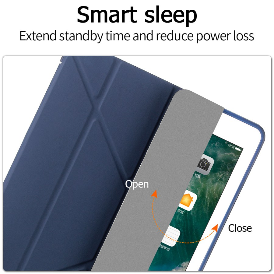 Smart-Stand-Cover Silicon Film--Pen iPad Case for Apple 7-7th/A2200/A2198/.. Film--Pen