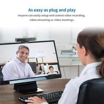 Webcam USB Web Camera Full HD 1080P 30FPS Webcam Web Cam with Microphone Clip-on 1/2.7 CMOS (Sony IMX307) PC Camera 120° Fov 3