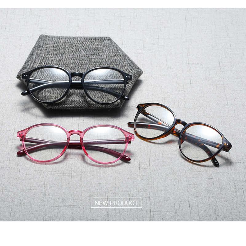 Круглые очки, прозрачные женские очки, Ретро стиль, прозрачные компьютерные поддельные очки, оправа для очков, оправа для женщин 2019
