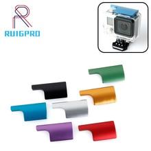 CNC Aluminum Waterproof Housing Lock Snap Latch Lock Cae for Gopro Hero 3+/4 Sports Camera Purple Red Black Lock Buckle