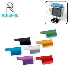 CNC อลูมิเนียมกันน้ำล็อค Snap Latch ล็อค Cae สำหรับ Gopro Hero 3 +/4 กล้องกีฬาสีม่วงสีแดงสีดำล็อคหัวเข็มขัด