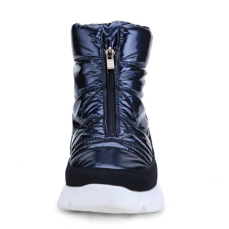 Image 3 - Winter Women boots navy snowboot short shoe warm 50% natural wool water resistance upper non slip zip quality product free ship-in Ankle Boots from Shoes on AliExpress