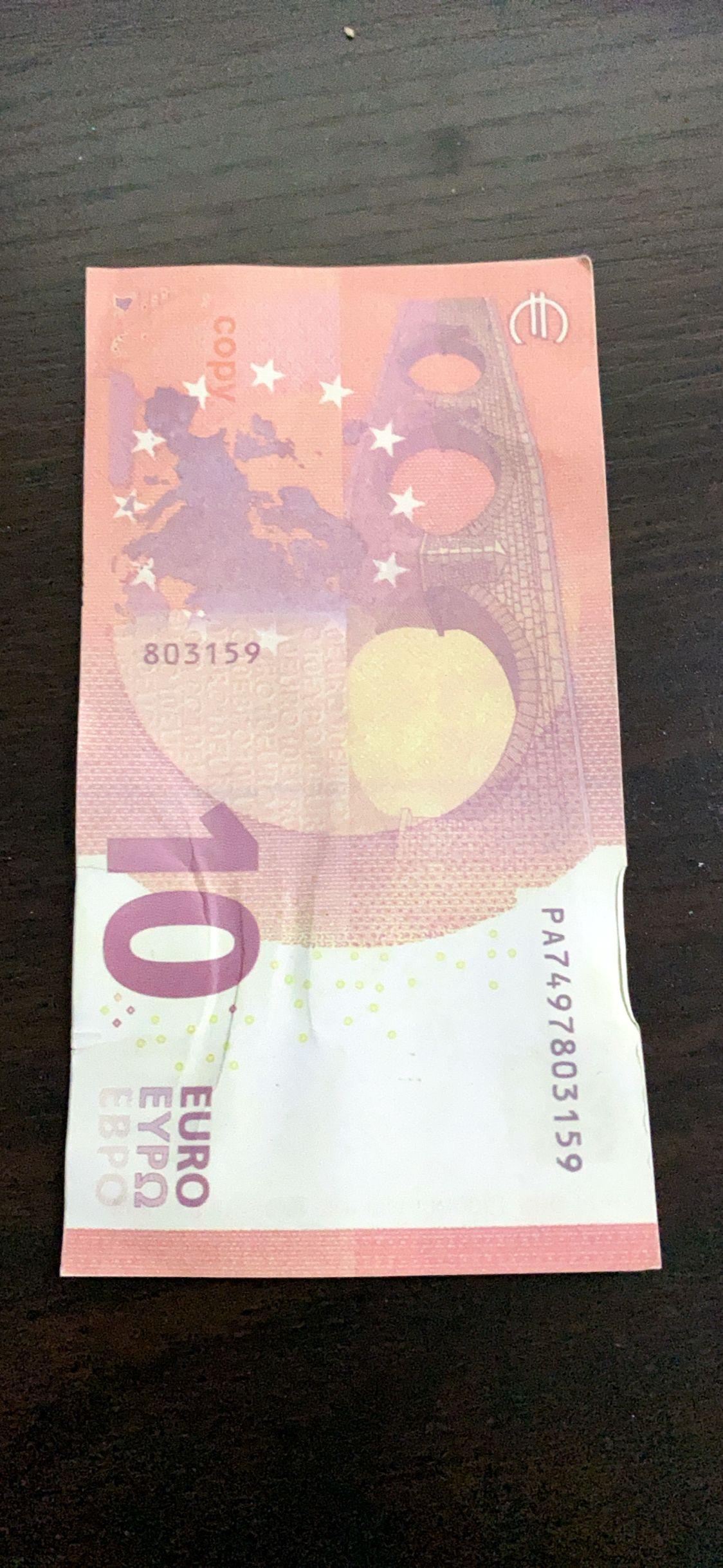 10 Uds. De dinero de juguete de broma, dinero de tamaño Real 20 50 Euro, billetes de Euro, fiesta grande, joyería de boda, no dinero real