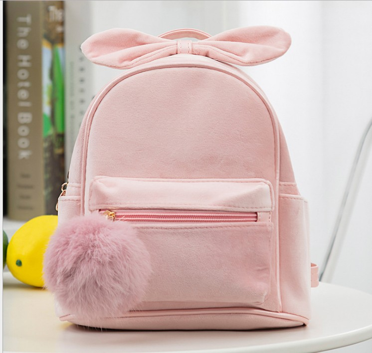 Kid Toddler Backpack Kindergarten Schoolbag Baby Cartoon Bowknot Shoulder Bag