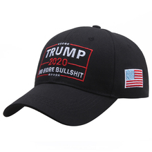 [SMOLDER]New Fashion Embroidered Trump 2020 No More Bullshit Unisex Baseball