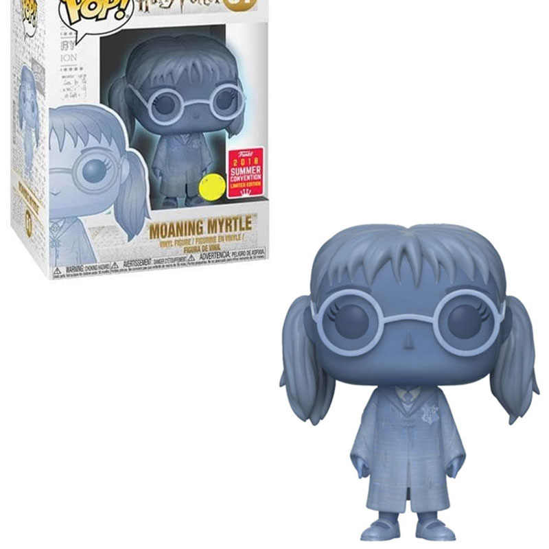 Funko Pop Harri Potter #31 Moaning Myrtle #61 Draco Malfoy #19 ไวนิลรูปตุ๊กตาของเล่น Harri Action รูปของเล่นวันเกิดของขวัญ