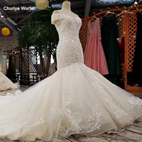 LS02874 mermaid wedding dresses 2020 off shoulder sweetheart lace up trumpet wedding gown with train vestido de noiva sereia