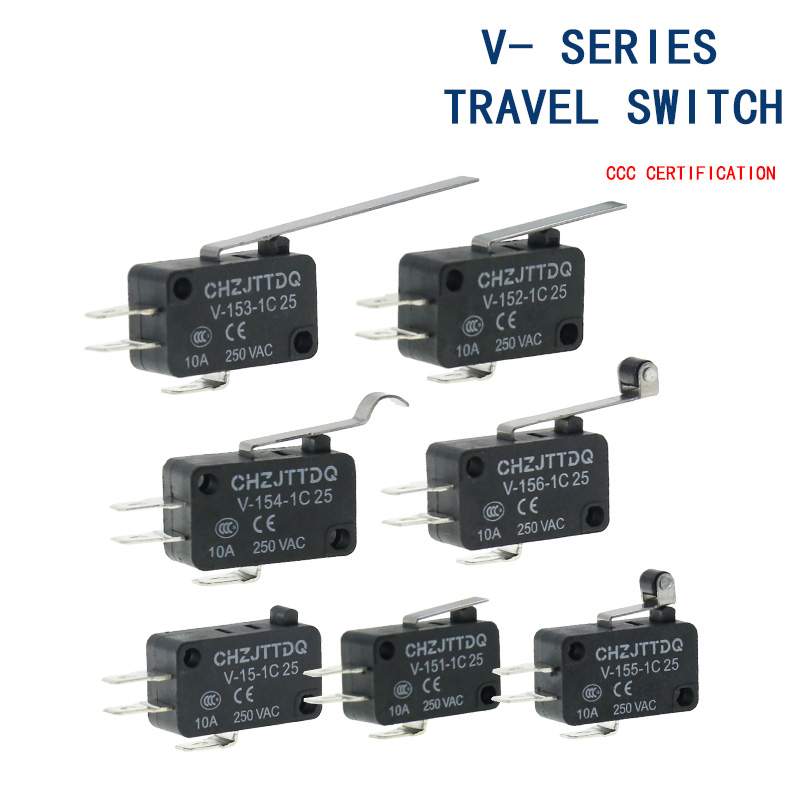 Momentary Micro Limit Switch CHZJTTDQ V-15.V-151.V-152.V-153.V-154.V-155.V-156.-1C 25 Travel Switch Limit Switch Silver Contact