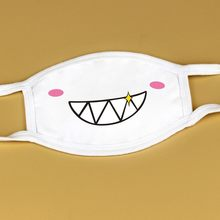 Mascarillas unisexe bouche réutilisation Masques blanc mignon Anime Anti Kawaii moufle visage Masque Mascarillas réutilisables Bandana Wrap(China)