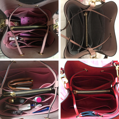 New Fits For Neo Noe Insert Bags Organizer Makeup Handbag Organize Travel Inner Purse Portable Cosmetic Base Shaper For Neonoes