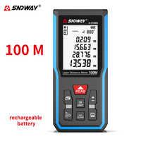 Sndway télémètre laser Rechargeable roulette électronique télémètre laser 50M 70M 100M 120M laser ruban à mesurer télémètre