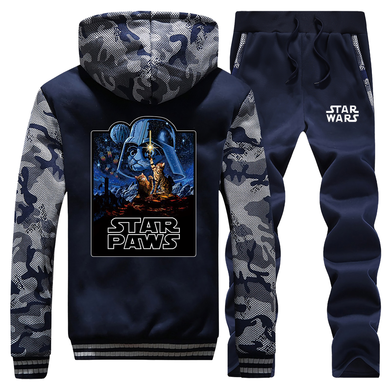 Star Wars Darth Vader Tracksuits Jacket Pant Set Men Sportsuits Sweatshirts Hoodies Sweatpant Suit 2 PCS Camo Coat Sportswear