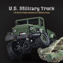 Genuine 1:16 2.4G 4WD RC Crawler Military Army Truck Remote Control Off-Road Car RTR Toy Kids Electric Car Toy Birthday Gift