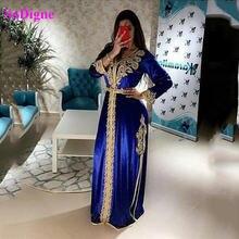 Sodigne марокканские caftan вечерние платья с вышивкой аппликации