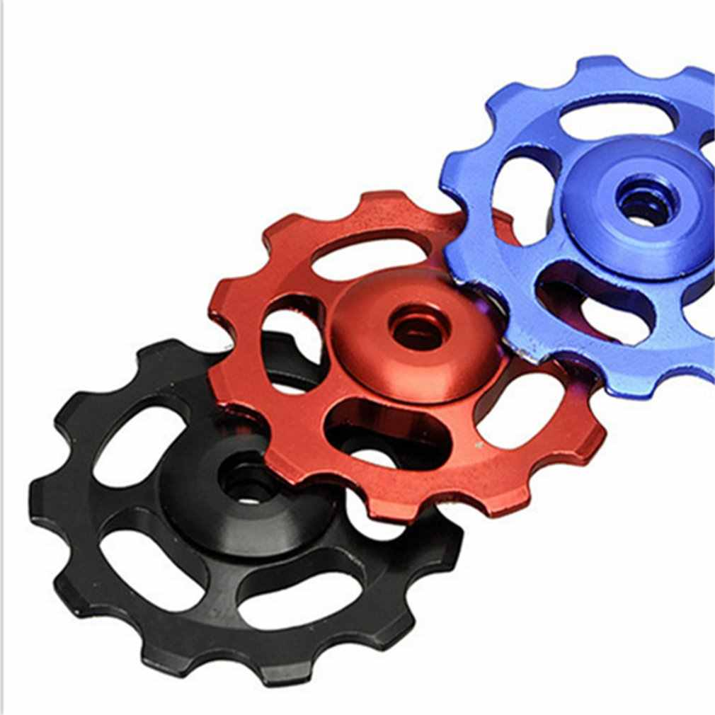 2pcs 11T Aluminum Alloy Jockey Wheel Rear Derailleur Pulley Bicycle Accessory
