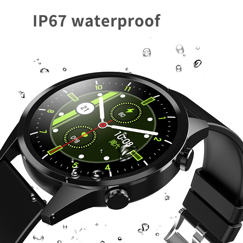 2020NEW Smart Watch Men Bluetooth Call Heart Rate Blood Pressure Oxygen Full Round Touch Screen Weather Display Smartwatch Women 4