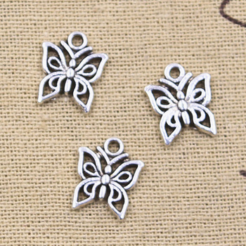 20pcs Charms Butterfly 14x12mm Antique bronze silver color Pendants Making DIY Handmade Tibetan Finding Jewelry 50g 100g mixed flower petal metal charms pendants vintage antique bronze silver bracelets necklace for diy jewelry making craft
