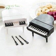 10 шт./компл. пианино вилки для фруктов Творческий пианино моделирование ключи фруктовая вилка домашний десерт украшение для торта, кухня столовая посуда для бара инструменты