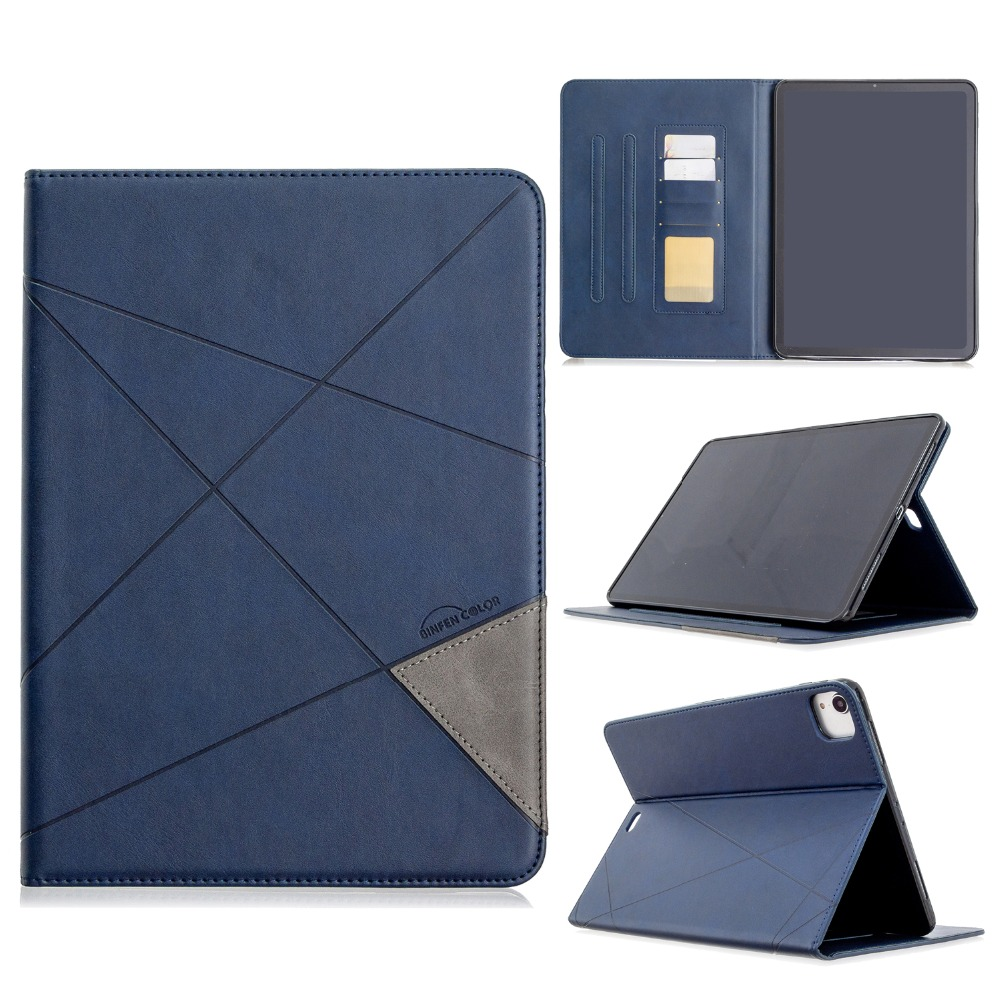 Silicone Case Holder 12.9 2018 Soft PU 2020 iPad Cover For Pro Leather Back With Wallet