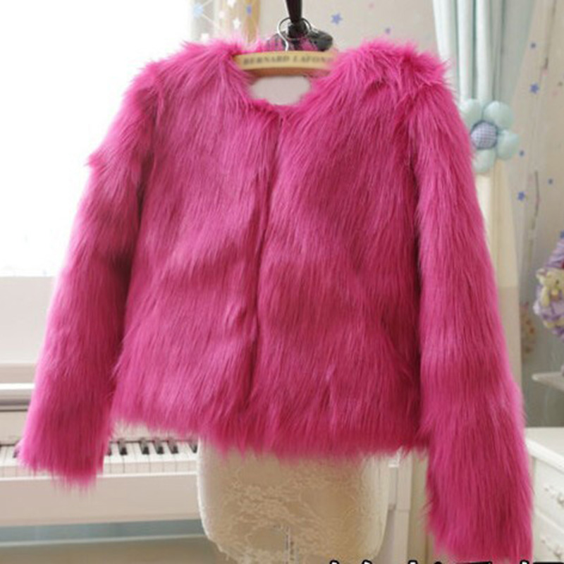 Faux Fur Coat For Women Autumn Winter Casual Concise Solid Color Female Long Fur Short Jacket Thick Coat New