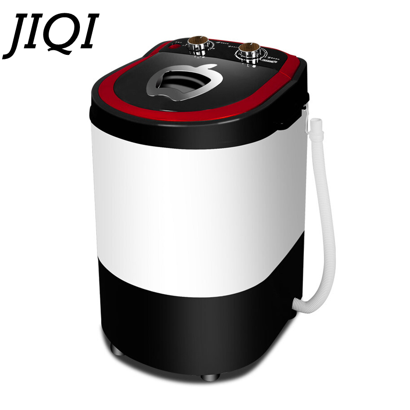 JIQI Mini Semi-automatic Washing Machine For Household Dormitory Single-barrel Washer Prevent Winding Wave Wheel Laundry Machine