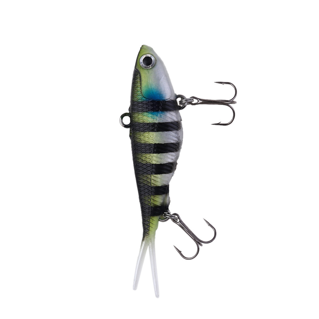 5 Pieces Soft Fishing Lures Baits High Simulation Fish 9 cm//3.5 inch