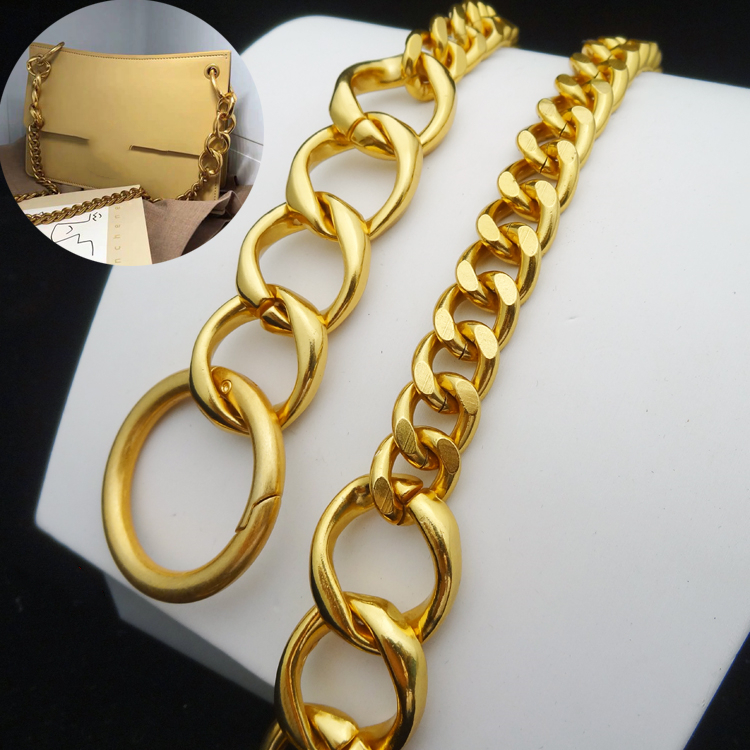 Width1.3 Cm Chain Bag Shoulder Bag Straps Metal Aluminium Chains Bags Golden Chain Handbag Replacement Accessories High Quality