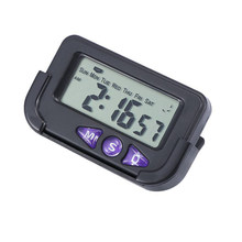 Digital Large Display Travel Black Plastic Alarm Clock Stopwatch Automotive Small Portable Accurate Electronic(China)