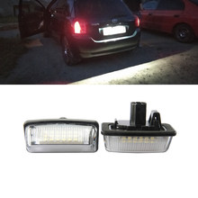 2x белые 18 светодиодов 3528 SMD комплекты подсветки номерного знака для Toyota Crown автомобильные запасные комплекты подсветки