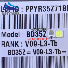 500 pces para lg led backlight 2w 6v 3535 branco fresco lcd luz de fundo para tv estilo de aplicação 2