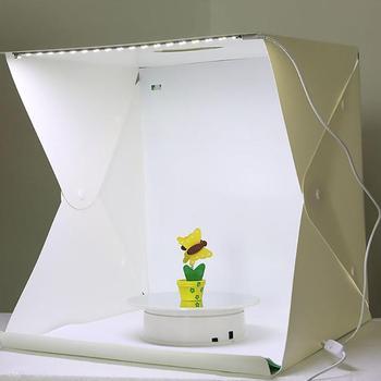 Przenośny 40X40cm Mini składany Lightbox LED światło fotografia studio softbox wsparcie Dropshipping tanie i dobre opinie ALLOYSEED 40x40x40cm