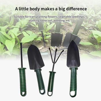 4 sztuk zestaw narzędzi ogrodowych kwiat sadzenia połączenie łopata zestaw narzędzi zestawy narzędzi Mini narzędzia ogrodnicze łopatki grabki Spade tanie i dobre opinie garden tool set steel 4pcs 1 set