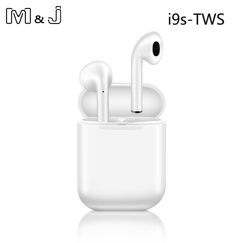 M&J i9s <font><b>Tws</b></font> Headphone <font><b>Wireless</b></font> <font><b>Bluetooth</b></font> <font><b>5.0</b></font> <font><b>Earphone</b></font> <font><b>Mini</b></font> Earbuds With Mic Charging Box Sport Headset For <font><b>Smart</b></font> Phone image