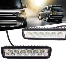 For 4x4 4WD Offroad SUV Truck Lorry Trailer 12V 18W 6LED Car Work Light Bar Spotlight 6000K DRL Lamps