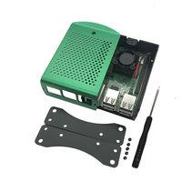 For Raspberry Pi 3 B+ (B Plus) Starter Kit Quad Core 1.4Ghz 64 Bit Processor + Aluminum Alloy Case Green