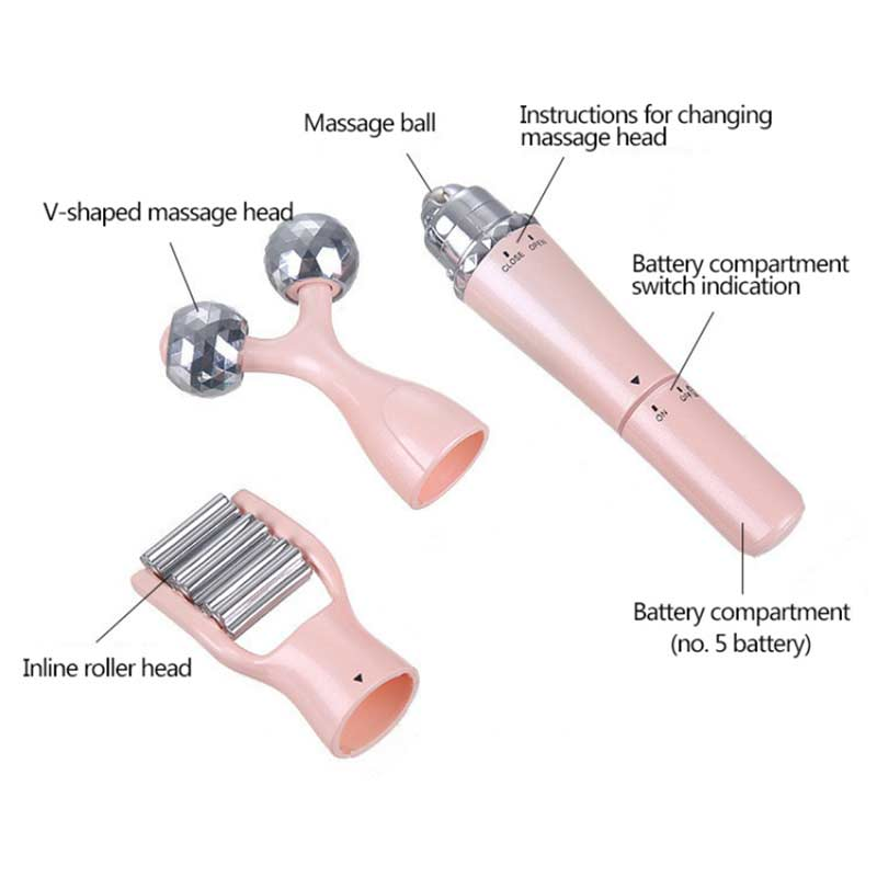 Facial electric Wrinkle Vibration Roller eye Massager Anti-aging Instrument Wrinkle Device Slimming Removal Face Skin Care tool