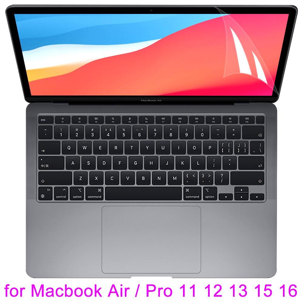 Защитная пленка для экрана для MacBook Air 13 M1 11 Pro 13 Touch Bar ID 15 16 12 HD Прозрачная кожаная пленка для A2179 A2289 2020 2021 Retina Новинка