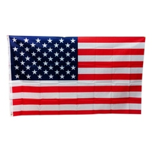 Practical Durable High Quality Double Sided Printed Polyester American Flag Grommets Fade Resistant USA