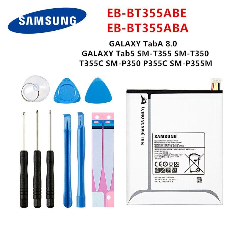 SAMSUNG Orginal Tablet EB-BT355ABE EB-BT355ABA Battery For Samsung Galaxy TabA 8.0 Galaxy Tab5 T355/C T350/P350 P355C/M +Tools