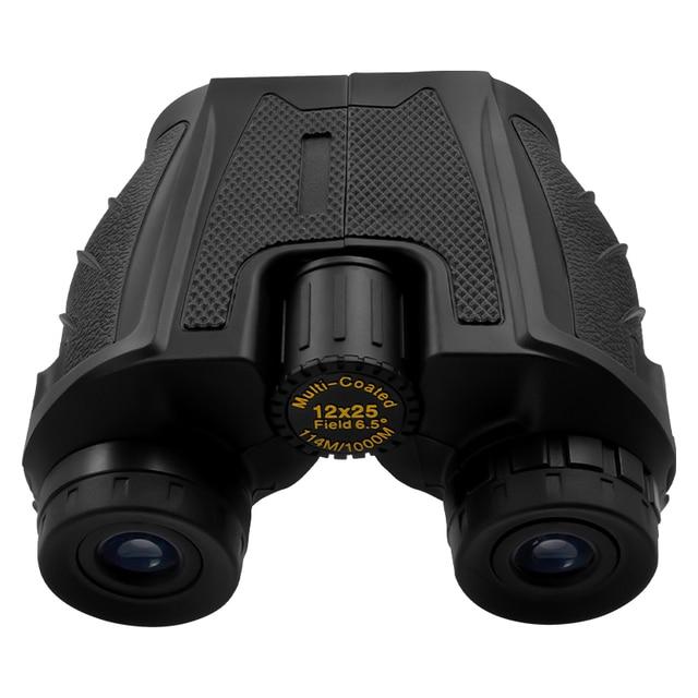 12x25 Compact Binoculars with Low Light Night Vision High Power Waterproof Binocular Professional Portable Binoculars Telescope 6