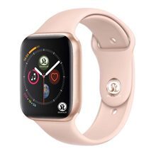 90% Off 42 Mm Smart Watch Series 4 Jam Pesan Push Bluetooth untuk Android Ponsel IOS Apple iPhone 5 7 8 X Smartwatch(China)