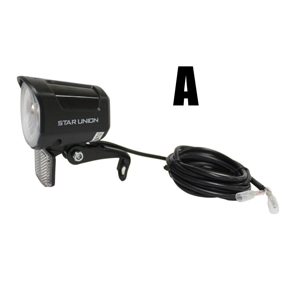 Electric Bicycle 6V Headlight E-Bike Front Light For Bafang Mid Drive Motor New
