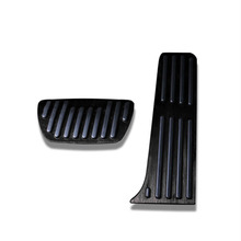 2pcs New No Drilling Gas Brake Foot Pedal Cover Black Aluminum Alloy sturdy For Toyota RAV4 Rongfang 2019-2020