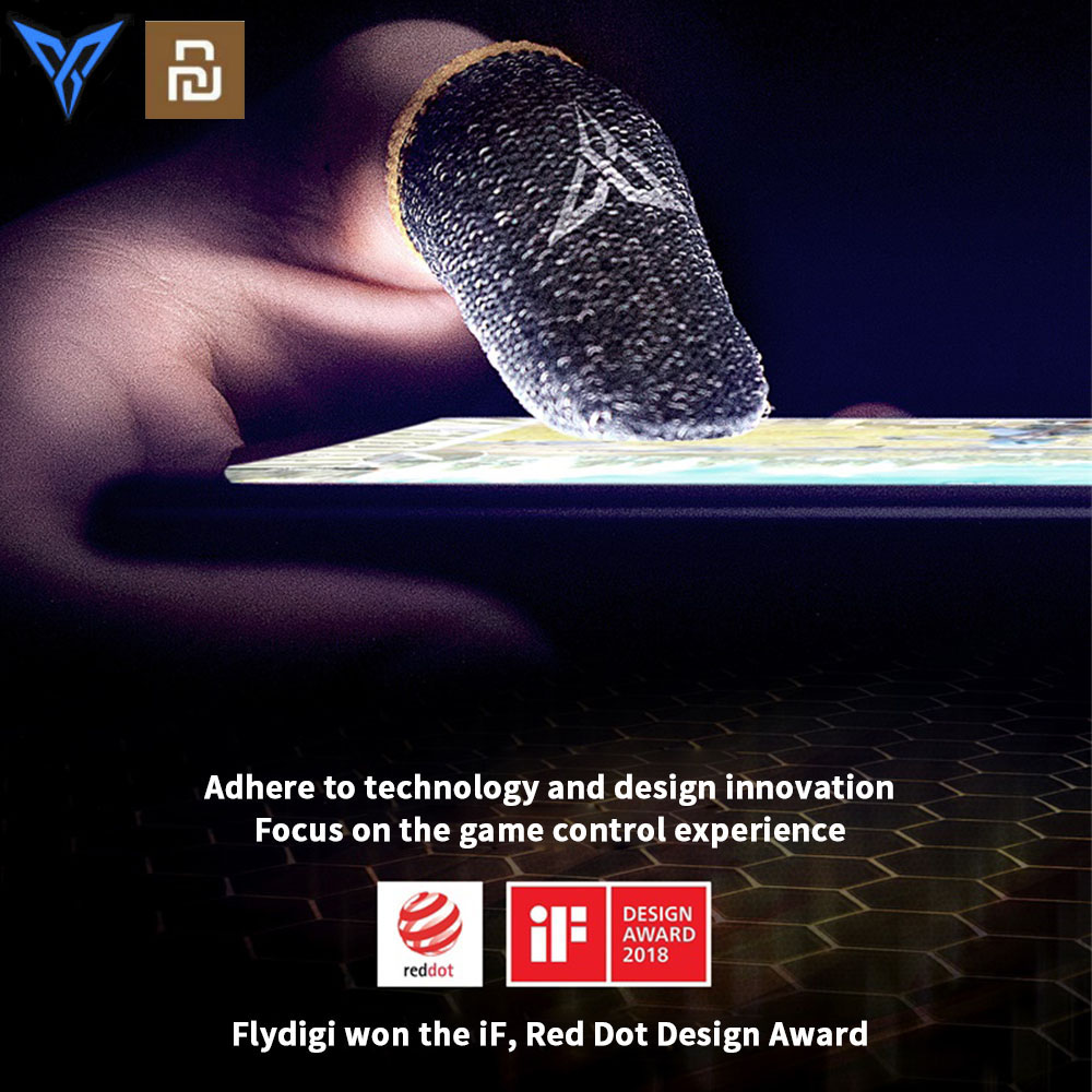 Youpin Flydigi Bee Sweat-Proof Finger Cover Sleeve Touch Screen Thumbs Mobile Game Controller Sweatproof Gloves for PUBG Phone(China)