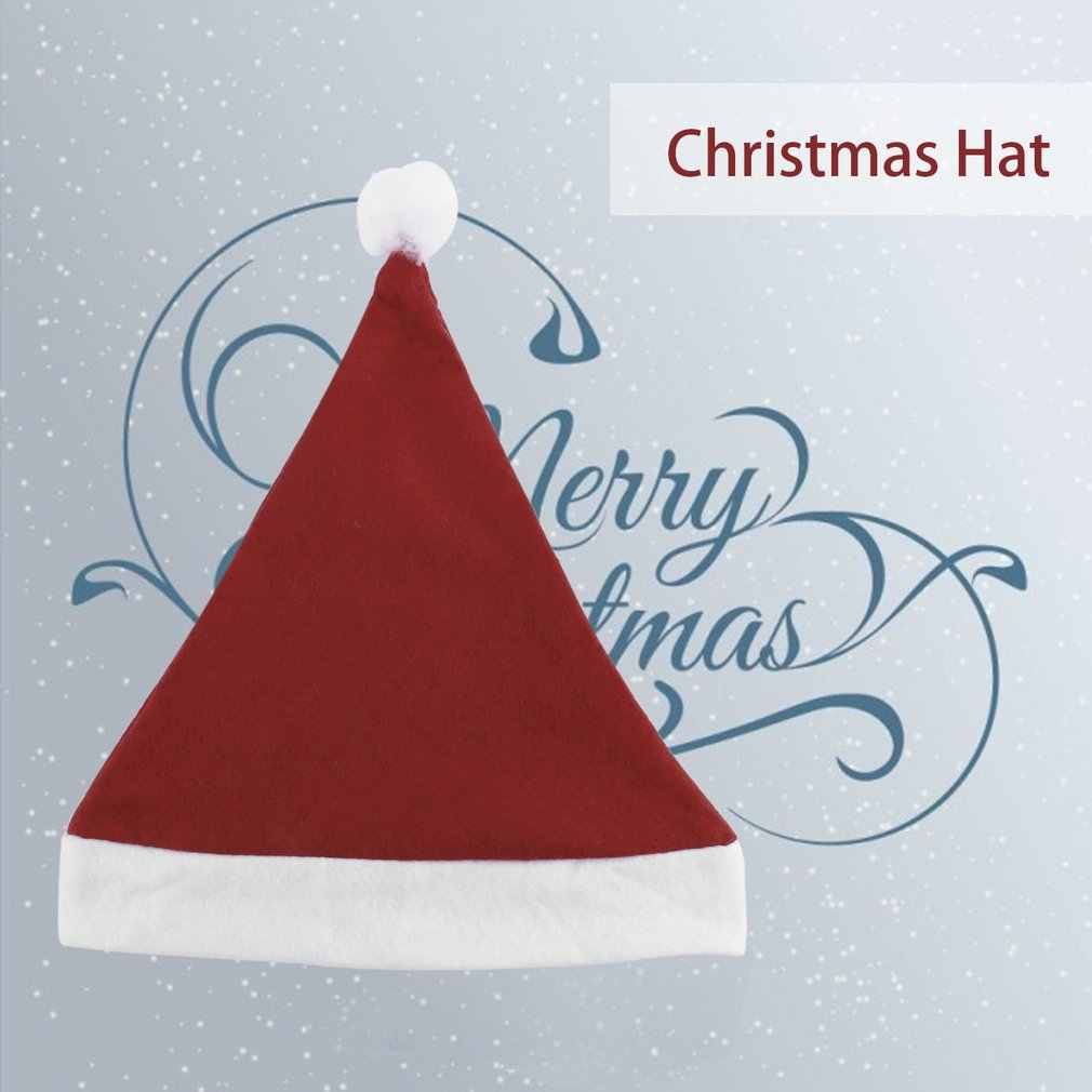 2018 Christmas Caps Thick Ultra Soft Plush Santa Claus Holidays Fancy Dress Hats Fashionable Design Cap For Holidays