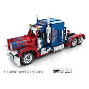 Image 1 - 2019 neue echnische serie 701803 849PCS Schwere Container Lkw modell bausteine set Klassische auto modell spielzeug für Kinder