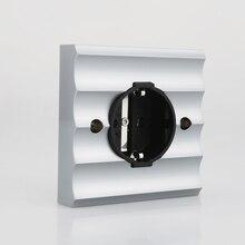 Viburg مقبس حائط كهربائي من نوع Schuko ، نحاسي نقي ، روديوم ، VE02R ، مقبس Schuko ، أوروبي ، ألماني ، 250 فولت ، 16 أمبير